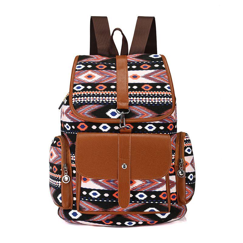 Bohemian Style Backpack Drawstring Printing Sports Bundle Pocket Beach Bag Fitnes Women Backpack Mochila Feminina Luggage & Bags Backpacks
