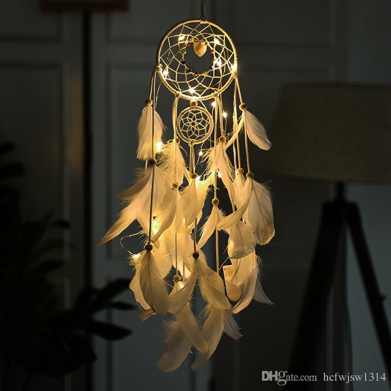 carillons vent ornements attrape-rêves indien fille coeur forêt rêve réseau filles créatives pendentif décoration de la chambre à coucher