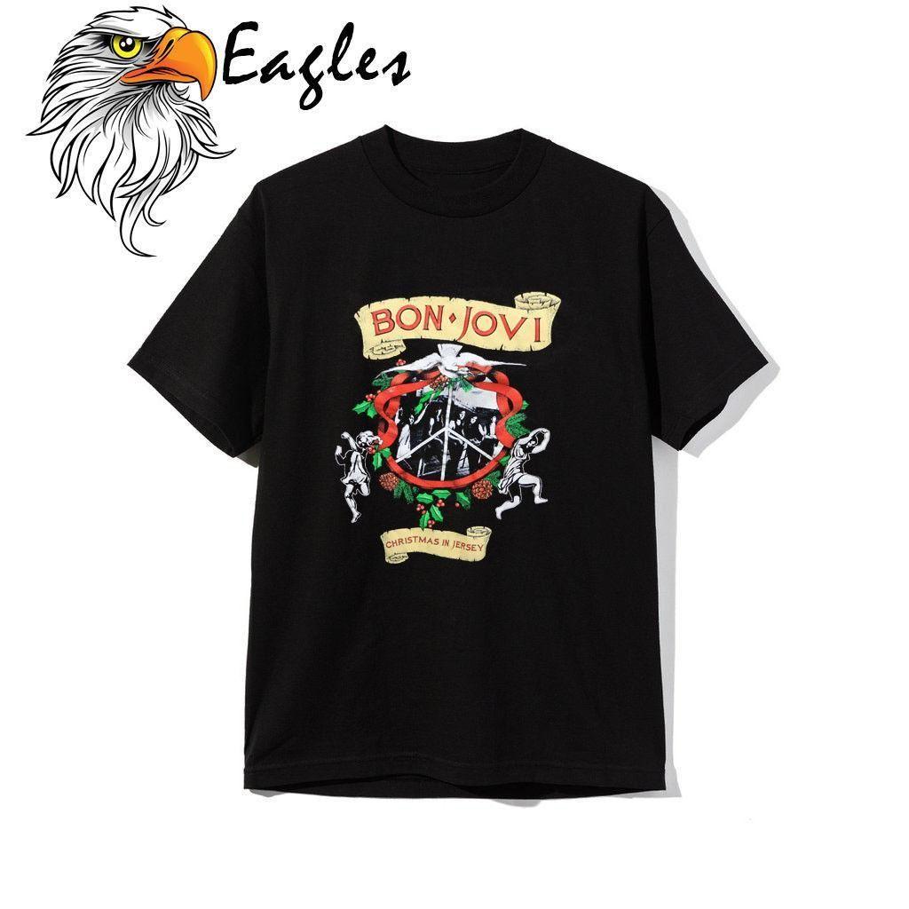 Großhandel Bon Jovi Shirt Vintage Tshirt 1990 Weihnachten In Jersey ...