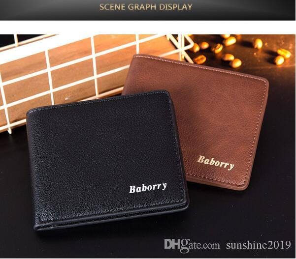 Men Wallets Brand Purse Wallets for Man with Card Bag Money Clip Male High Quality Small Wallet Fashion Coin Purse Money Bag