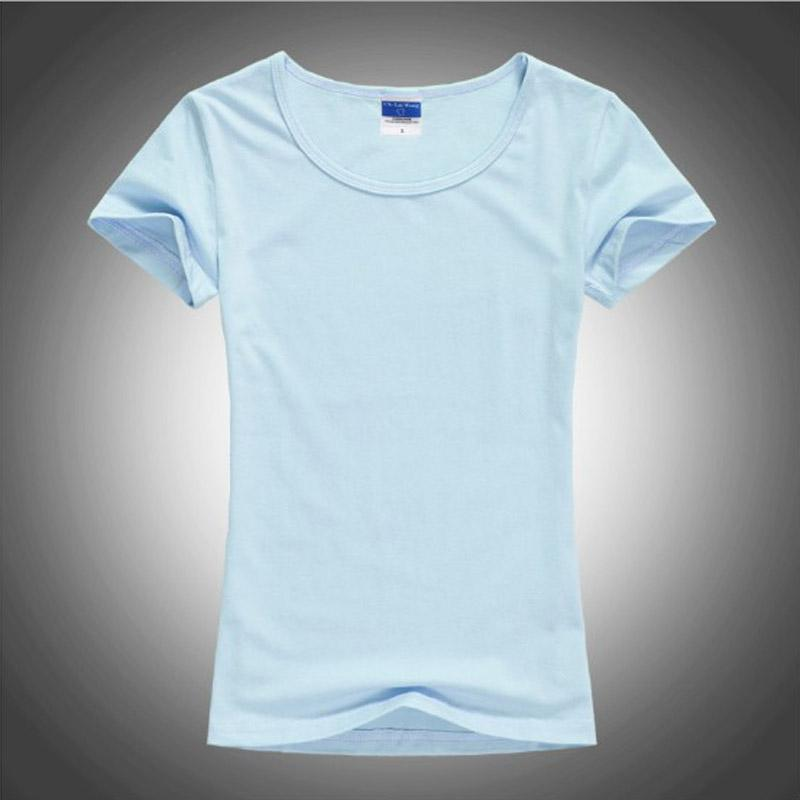 High Quality O-Neck 12 Candy Colors Cotton Basic T-shirt Women Plain Simple T Shirt For Women Short Sleeve Female Tops