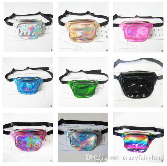 b5d840b38304 Waist Bag Girls Fashion PU Belt Laser Waterproof Bag Phone Women Thighbags  Fanny Pack Travel Chest Transparent Bags DHL Free Shipping