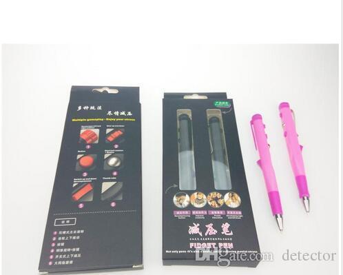 New Fidget Pen Anti-stress Fidget Pen Rotate Click Dip Pop Up Decompression Toy Novelty Toys for School Office Supplies Children Gifts