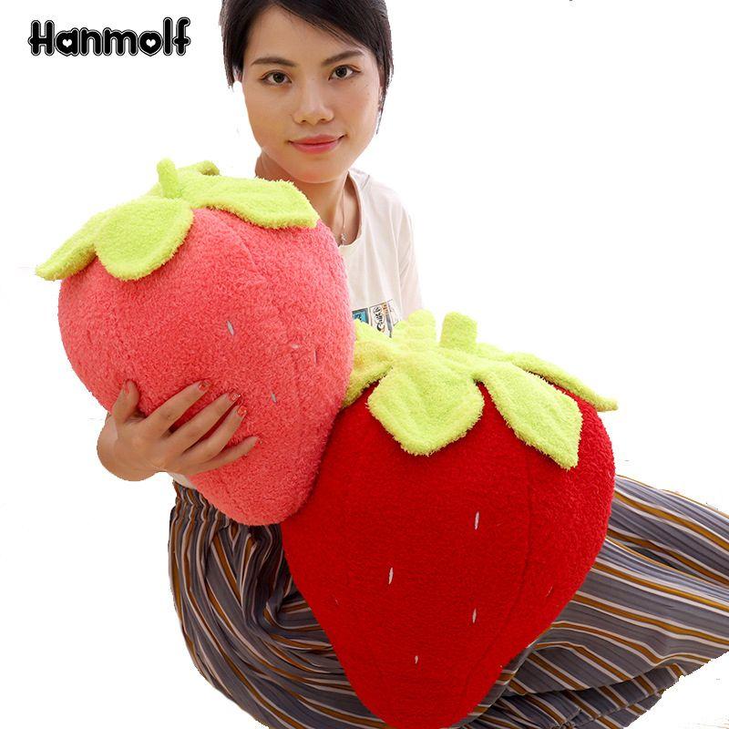 Großhandel Süß Gefüllte Erdbeere Plüschtier Ultra Soft Fruits Rosa