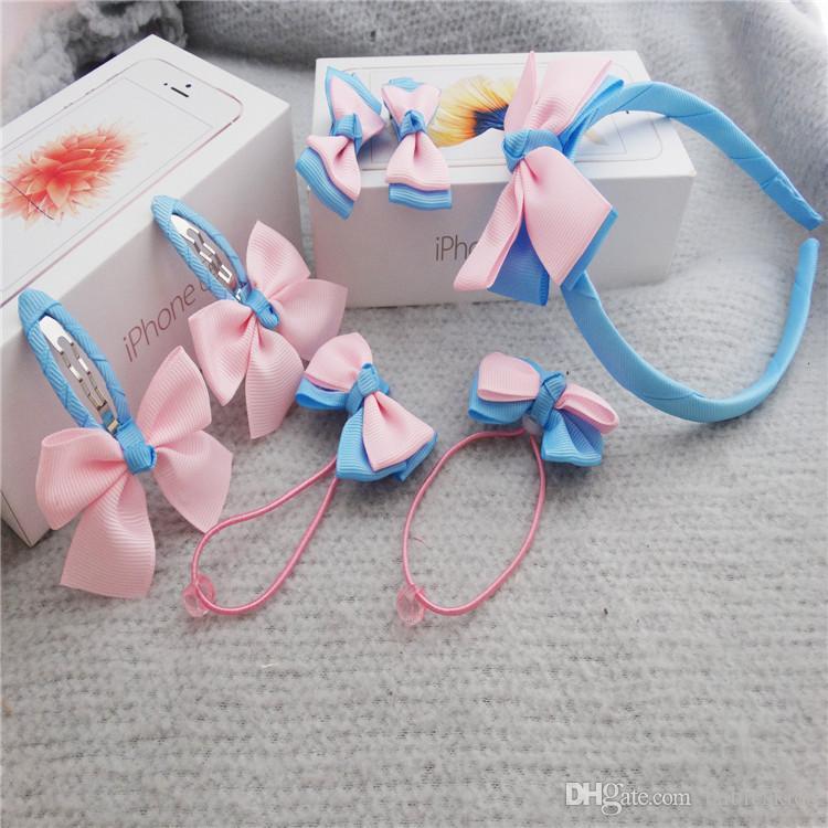 =Children Cute Hair Accessories Hairband Hairpins Gum for Baby Girls Lovely Bow Headwear Hair clip Headband