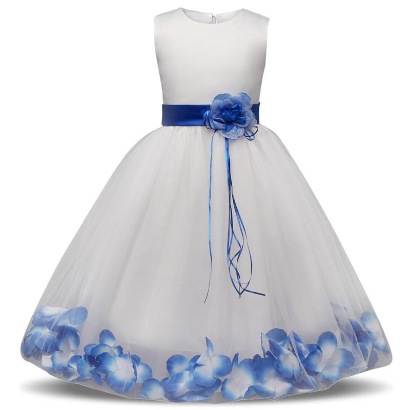 2018 New Flower Girls' Dresses Little Girl Formal Gown With Sheer Neckline A-Line Lace Jewel Bow Appliques Sequins Sash Tulle Cheap