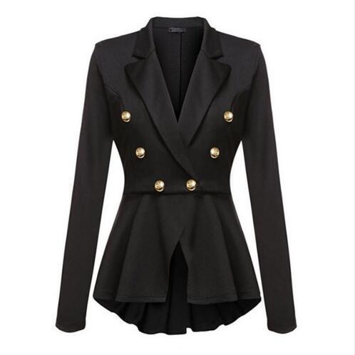 4c3f70b567 Compre Marca De Moda Blazers Casaco Preto Vermelho Mulheres Fino Elegante  Jaqueta Feminina Desgaste Do Trabalho Feminino Casaco Feminino Roupas De ...