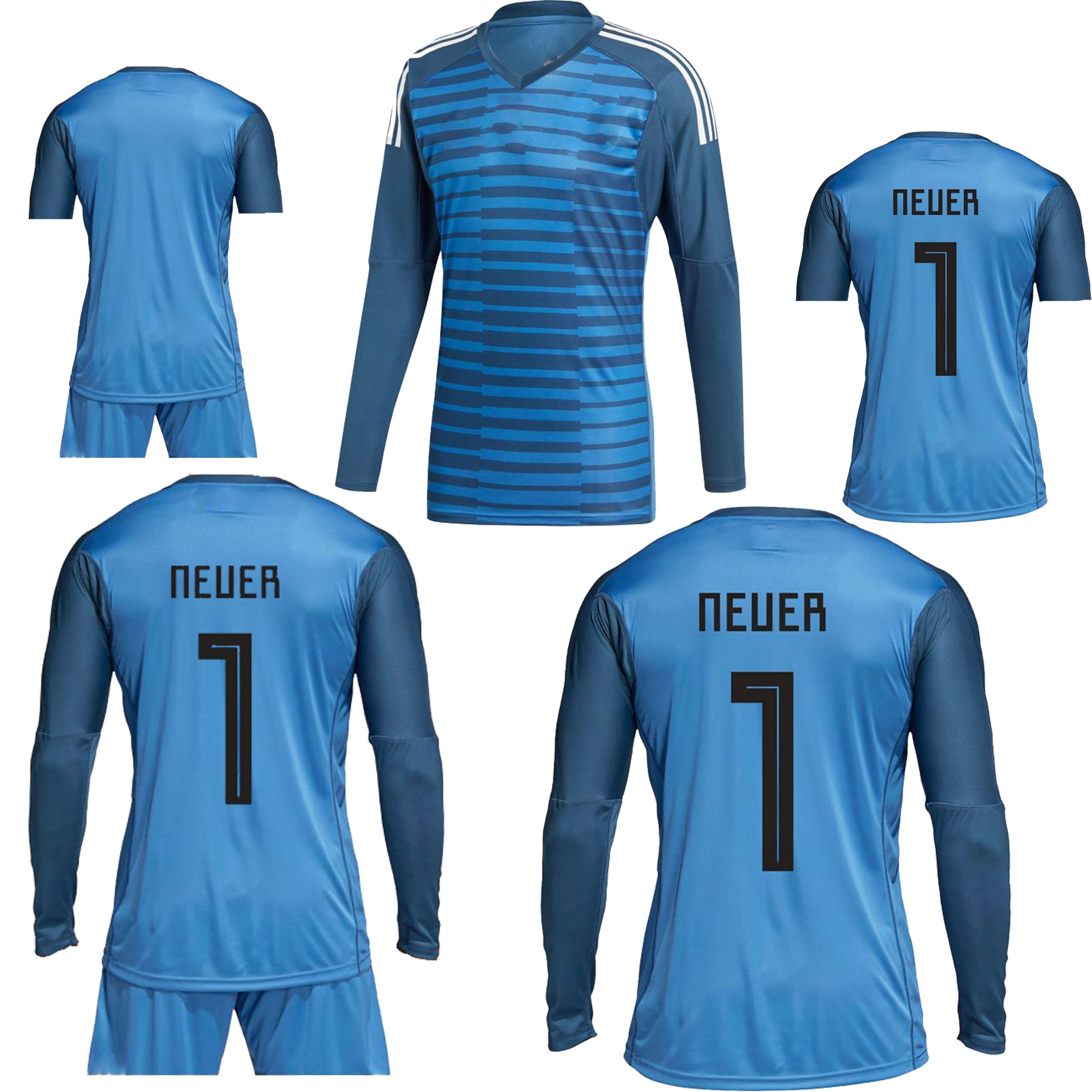 4e77c62d16d 2019 2018 World Cup NEUER TER STEGEN Long Sleeve Goalkeeper Jersey Kit  NEUER TER STEGEN SANE DRAXLER 2018 Long Sleeve Goalkeeper Football Shirt  From ...