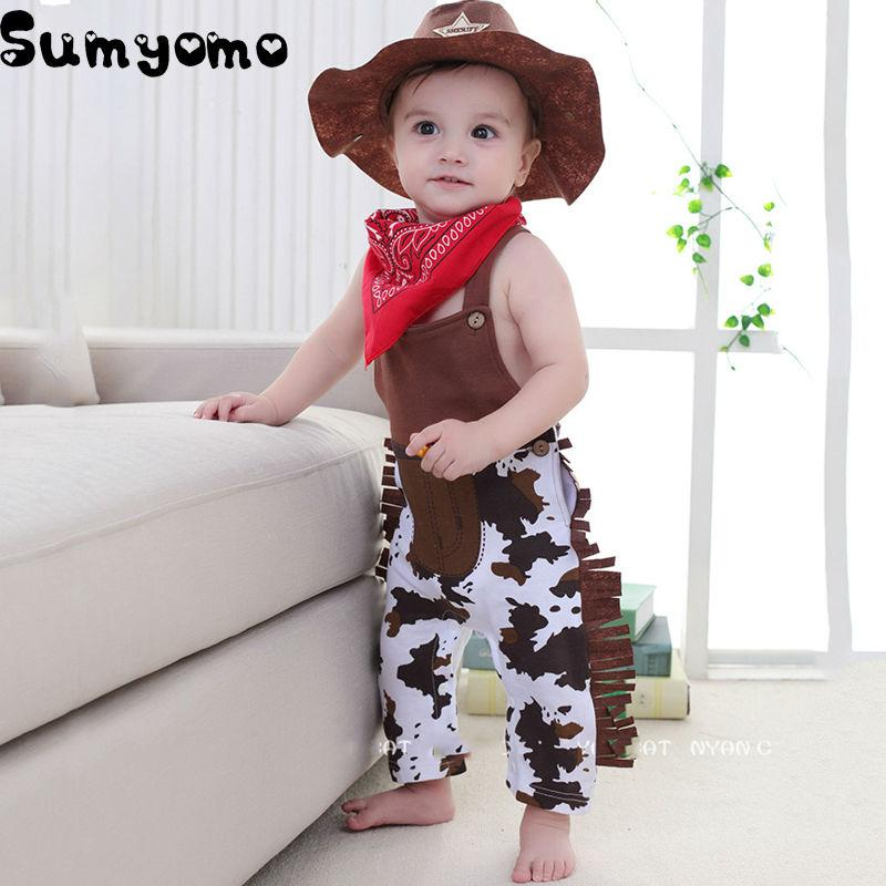 2018 Baby Cowboy Romper Costume Infant Boy Girl Clothing Set Hat +Bibs + Overalls Romper Halloween Event Birthday Outfits From Cover3085 $21.47 | Dhgate.  sc 1 st  DHgate.com & 2018 Baby Cowboy Romper Costume Infant Boy Girl Clothing Set Hat + ...