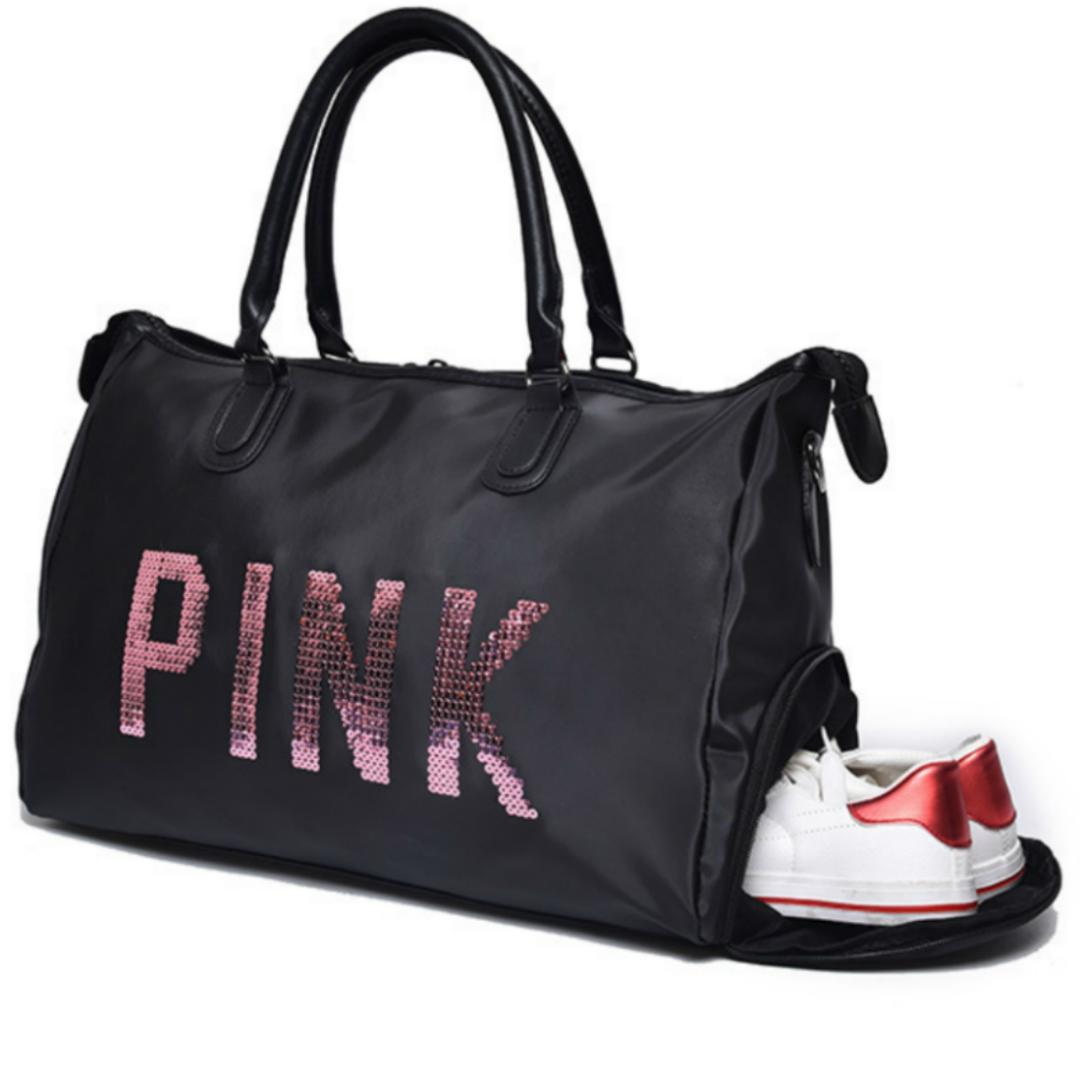 2018 Sequins Vs Love PINK Gym Fitness Sports Bag Shoulder Crossbody Shoes  Bags Secret Women Tote Handbag Travel Duffel Gym Bags Cheap Gym Bags 2018  Sequins ... ad89958657