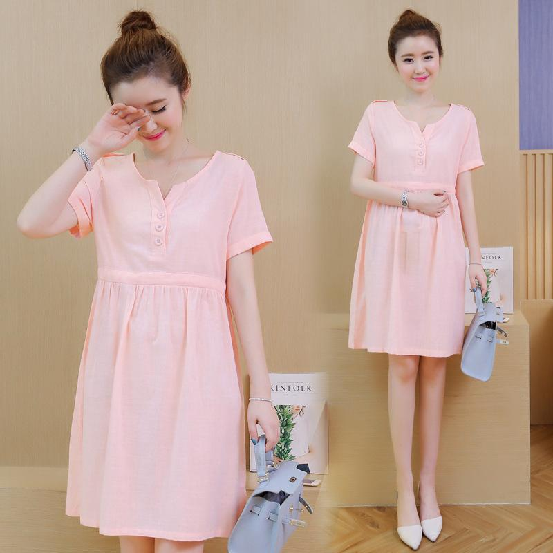 2019 Maternity Clothing Dress 2018 New Summer New Korean Fashion