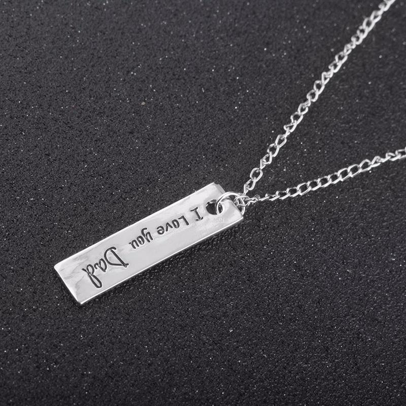 ti amo papà Bella e collana di cristallo vestiti accessori padre Day's Necklace la collana regalo mamma spedizione gratuita
