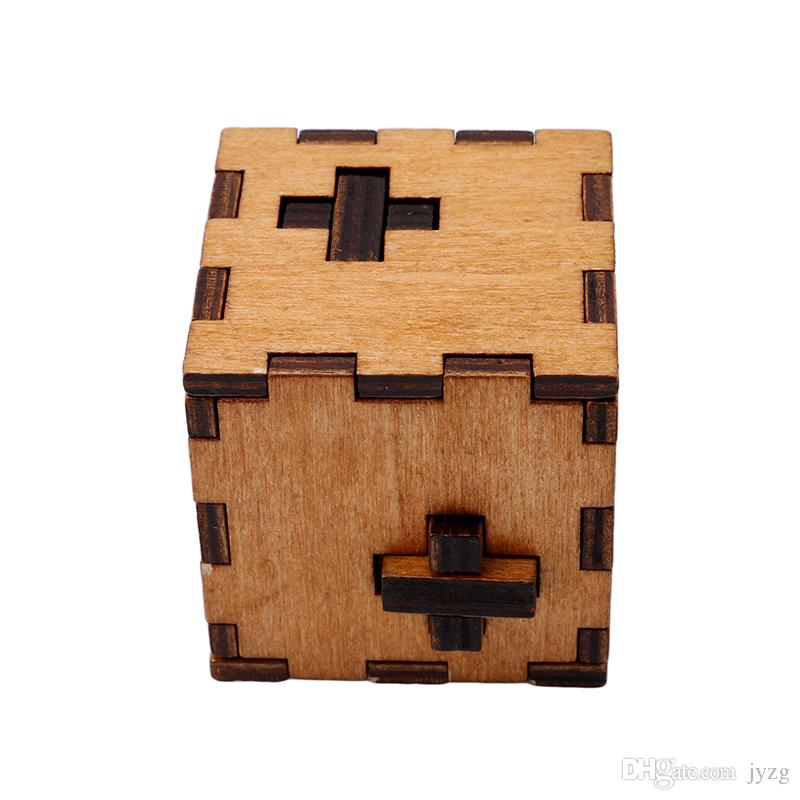 Regalo di Natale Kong Ming Luban Lock Bambini Bambini 3D Giocattoli di legno Giocattoli educativi adulti Classici bambini Cubo Gioco Puzzle