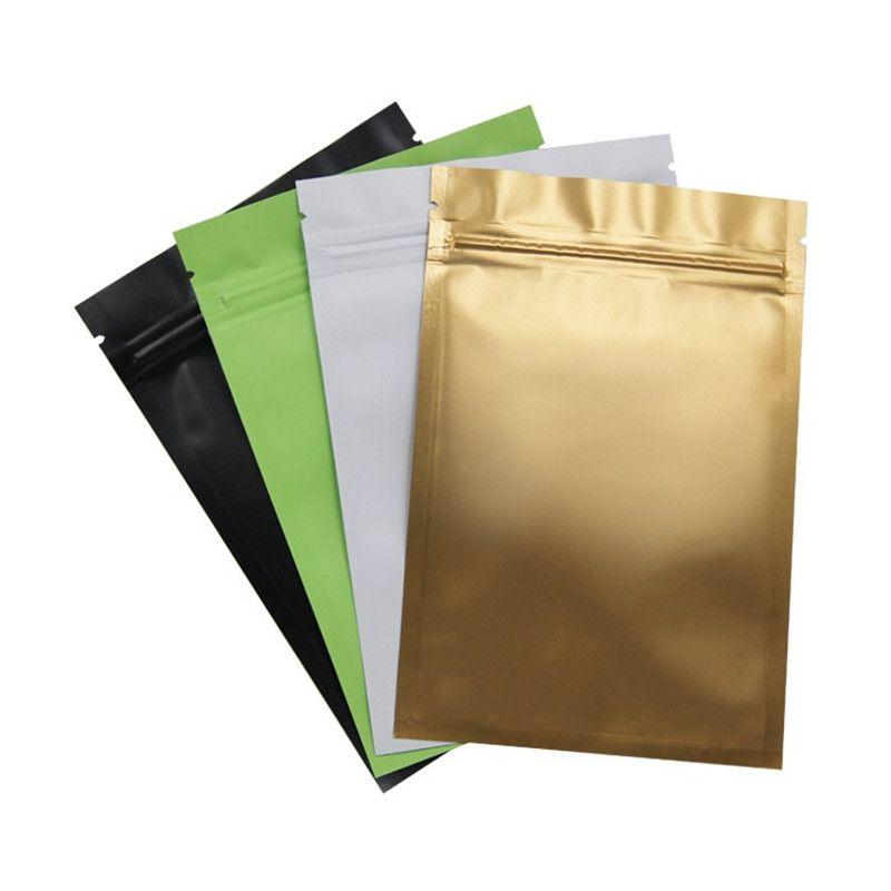 8 цвет металлическое уплотнение майлара мешки с плоским дном алюминиевая фольга небольшие пластиковые пакеты завод Оптовая продажа LZ0712