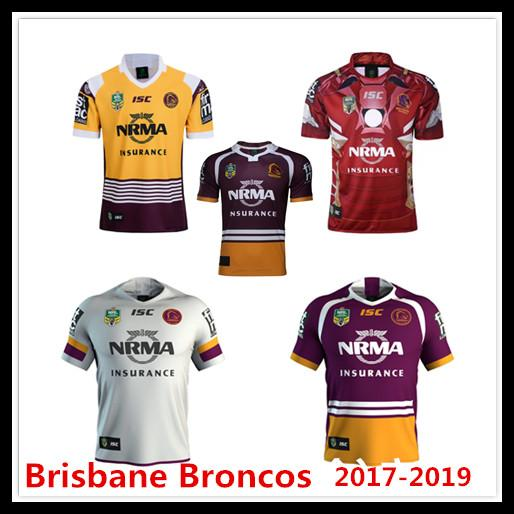 Newest Brisbane Broncos 2017 2018 2019 Home Away Rugby Jerseys NRL National  Rugby League Shirt Nrl Jersey BRISBANE BRONCOS Shirts S 3xl UK 2019 From ... 68b2a637a