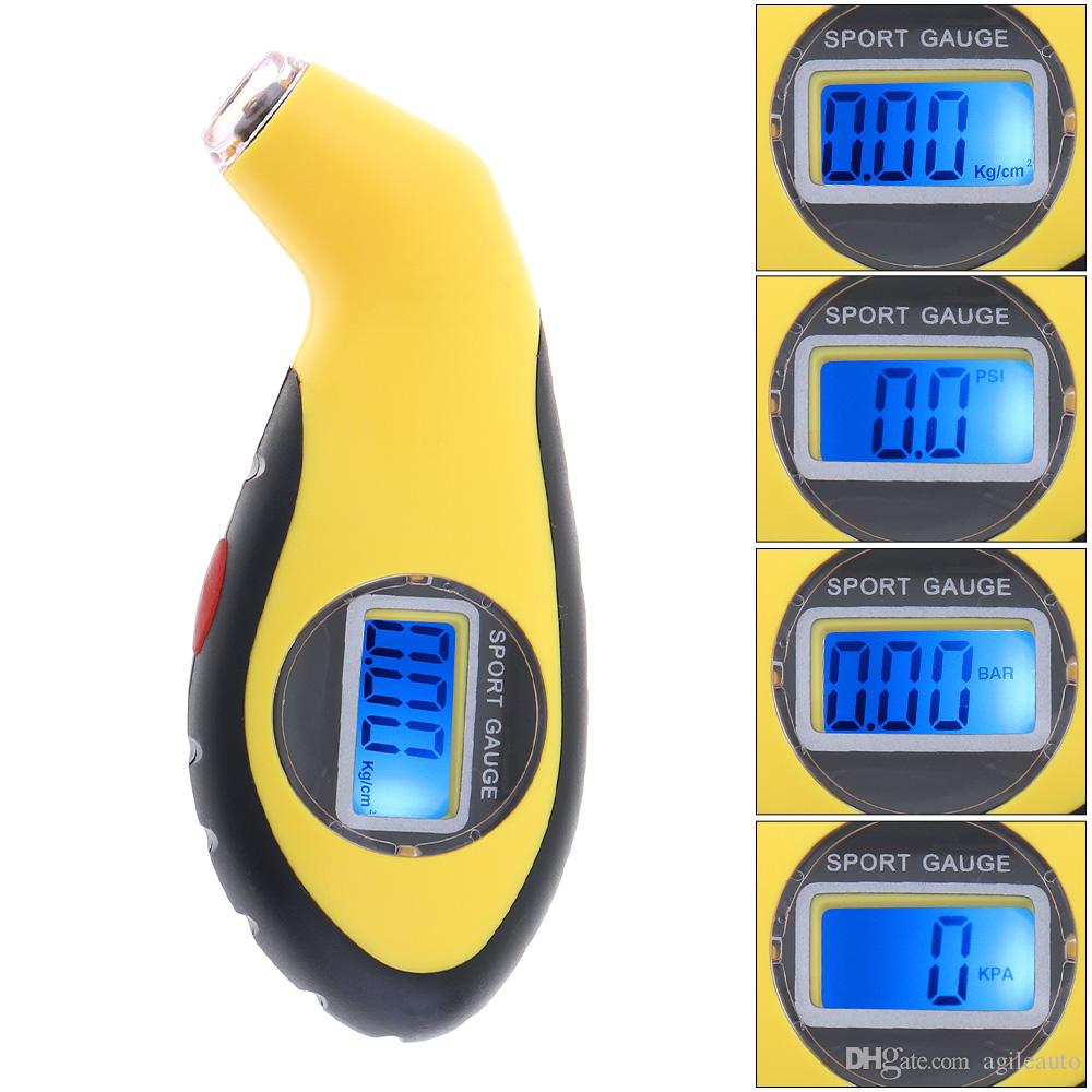 Display LCD Universal Night Vision Precisione portatile Elettronico digitale Tire Pressure Gauge Meter Auto Bike CEC_710