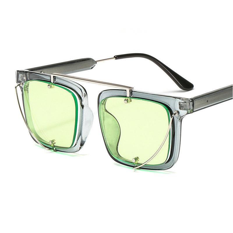 Mincl  Fashion Oversized Sunglasses Women Metal Square Sunglass 2018 Brand  Female Shades Mirror Big Size Frame Sun Glasses NX Eyeglasses Sunglasses Hut  From ... 4664e20b2