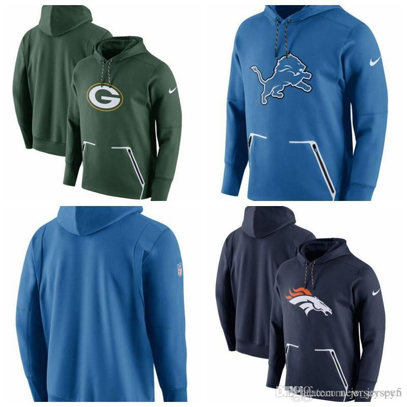 the best attitude 9514c 1548d Green Bay Packers Detroit Lions Denver Broncos Champ Drive Vapor Speed  Pullover Hoodie