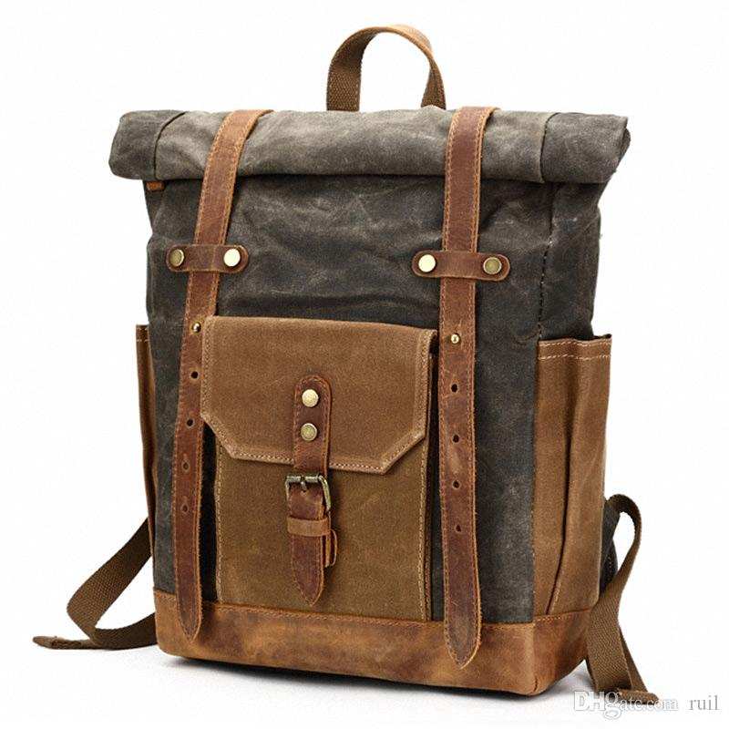 Men's Bags Cooperative Luxury Mens Large Backpacks Designer Fashion Brown Laptop Backpack Genuine Leather Travel Backpack Satchel Male High Quality Cheapest Price From Our Site
