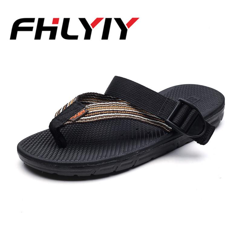 b67e61268aa64a Men Black Sandals Summer Breathable Soft Flat Slippers Beach Outdoor Floor  Indoor Kitchen Flip Flops Casual Sandal Mens Shoes Fashion Shoes Shoes For  Sale ...