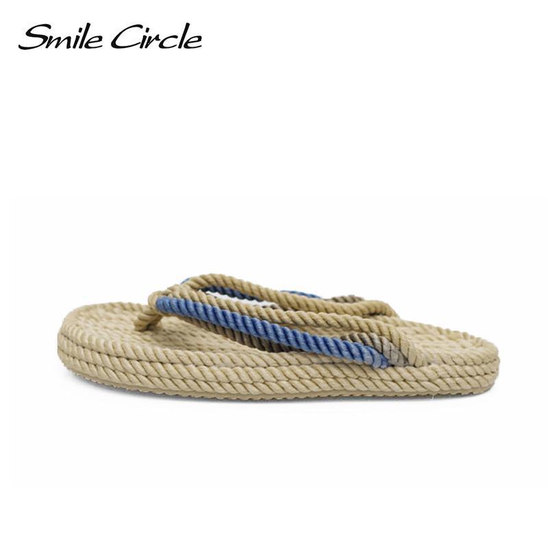 78026f5d66c3 Smile circle summer slippers women fashion handmade rope flip flops jpg  800x800 Rope flip flops