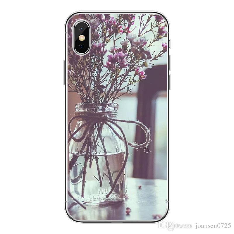 For iPhone X cases beautiful Floral patternTPU painting Cell Phone Cases soft silicone back phone shell cover for iphone 5S 6S 7 8 Plus
