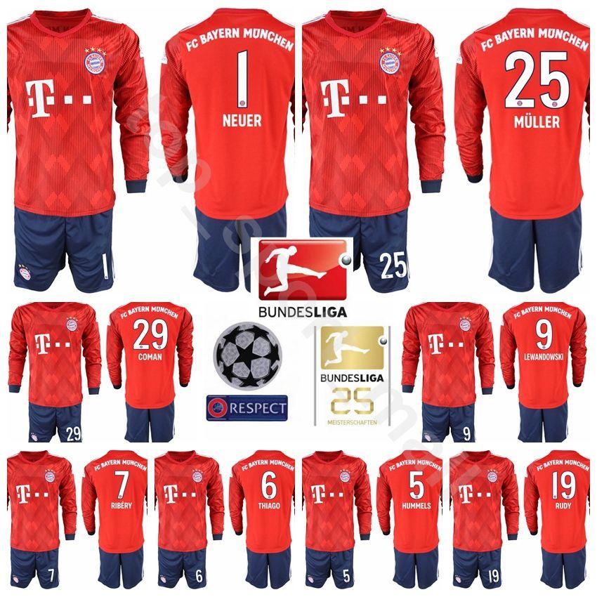 9177f24b7e1 ... netherlands bayern munich soccer 10 robben long sleeve jersey set men  25th bundesliga 11 james rodriguez