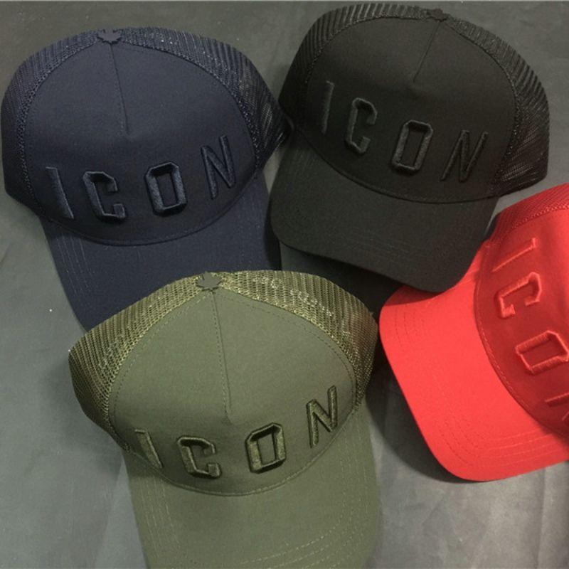 Summer Mesh Hat Icon Caps Snapbacks Men Women Baseball Cap Black ... 23ab27103828