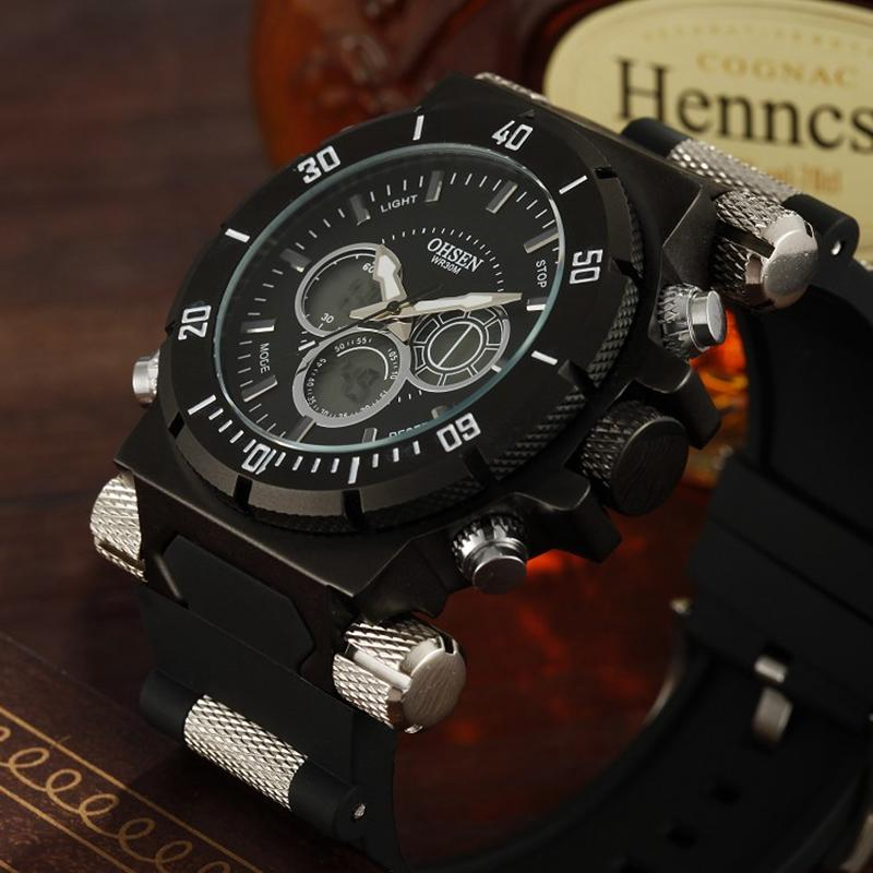 2094360fce0 Famous OHSEN Digital Sport Army Mens Male Sports Watch 30M Waterproof LED  Display Man Wristwatch Relogio Masculino With Gift Box Cool Watches Swiss  Watch ...