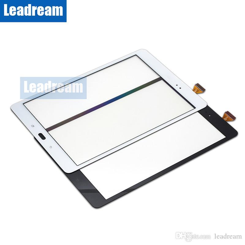 الكمبيوتر اللوحي شاشة تعمل باللمس عدسة محول الأرقام زجاج مع الشريط لسامسونج غالاكسي تبويب 9.7 T550 دي إتش إل الحرة