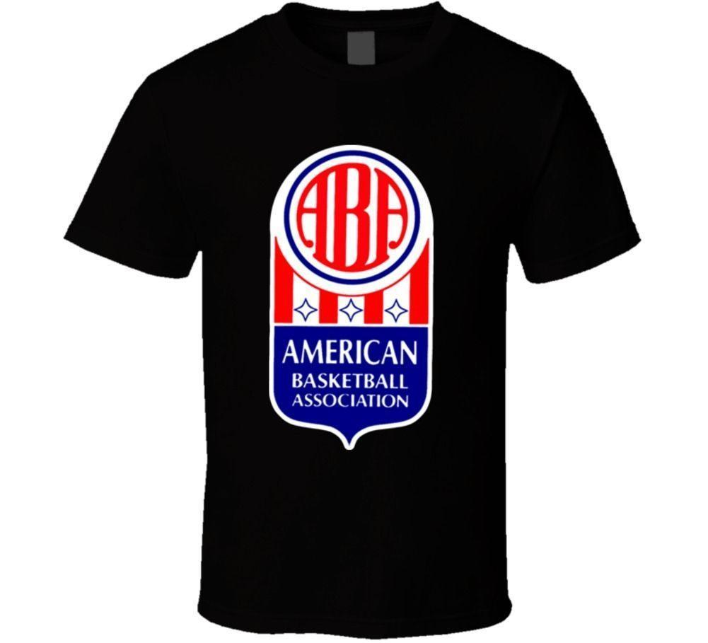 aba american basketball association logo retro t shirt designable t