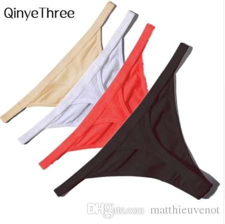 50e1ca537f39 2019 Hot Sale Sexy Women Cotton G String Thongs Low Waist Sexy Panties  Ladies' Seamless Underwear Black Red White Skin From Matthieuvenot, $4.57 |  DHgate.