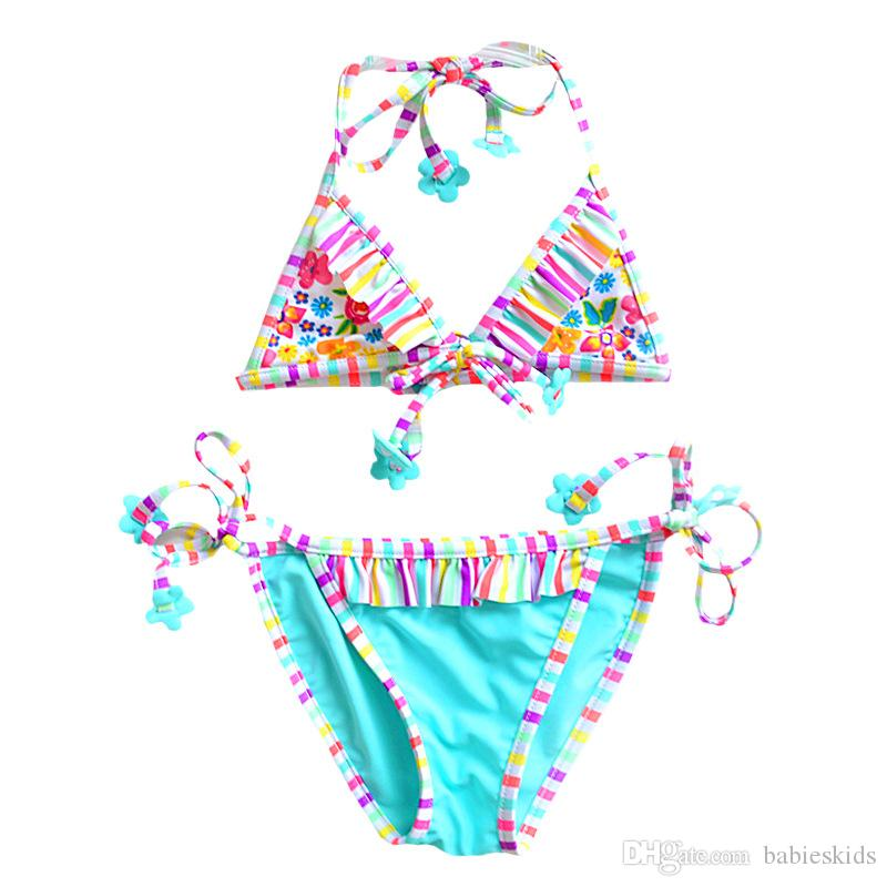 e6a4f6517fd43 1 inch = 2.54 cm. Please note that slight color difference should be  acceptable due to the light and screen. Fashion Baby Girls Kids Swimwear ...