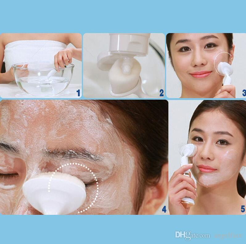 Ultrasonic Electric Wash Face Machine Facial Pore Cleaner Body Cleaning Massage Mini Skin Beauty Massager Brush Massager Beauty Tool