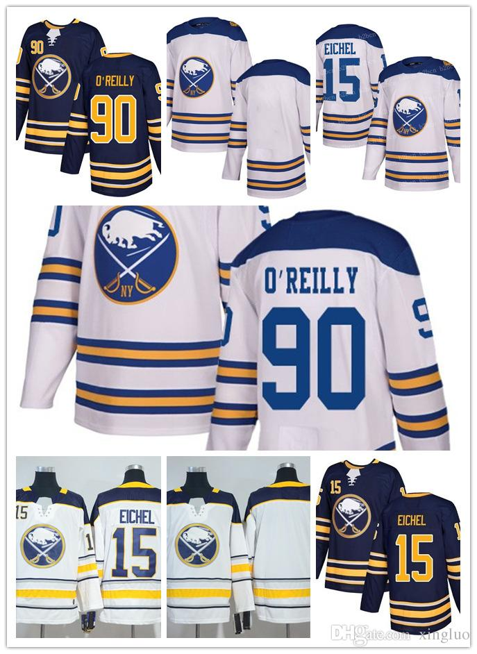 new product 44e46 5e26e 2018 Winter Classic Buffalo 15 Jack Eichel Jersey 90 Ryan O Reilly blank  navy blue Authentic Player Jersey