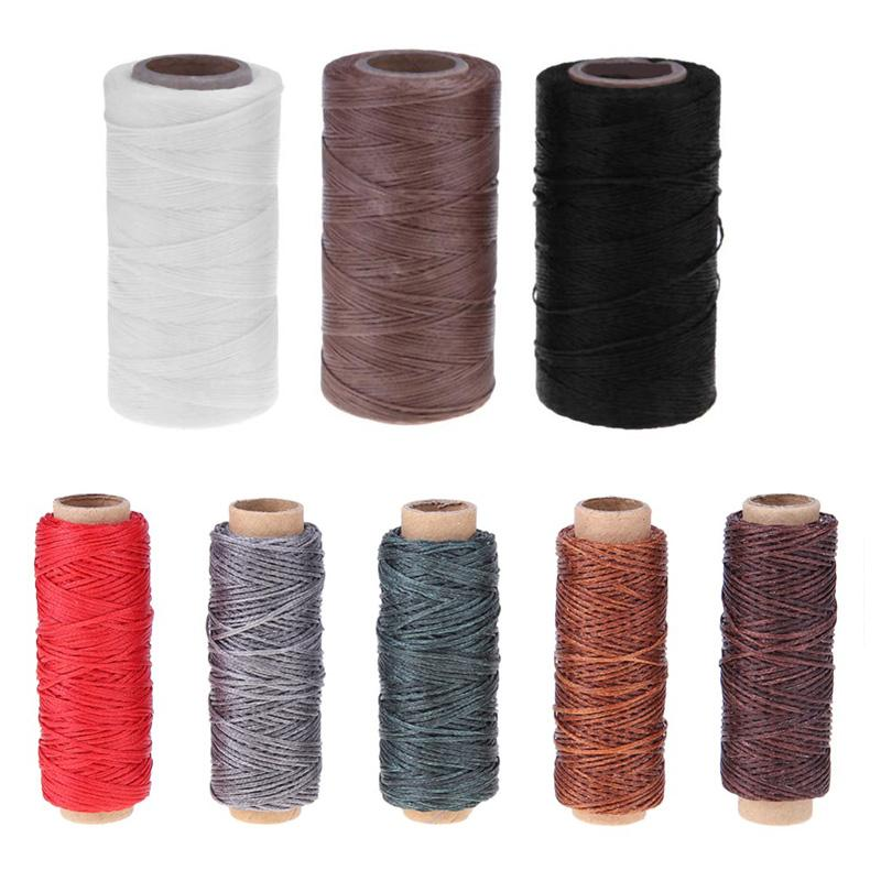Waxed Sewing Threads 150D/16 Flat Durable Strong Bounded Nylon Leather Sewing Thread for Craft Repair Shoes Tools