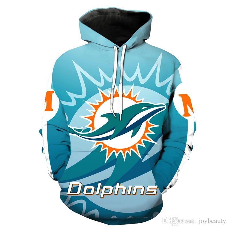 17422781 Men Hoodie Miami Dolphins 3D Full Print Man Hooded Sweatshirt Unisex Casual  Pullover Hoodies Long Sleeves Sweatshirts Digital Tops (RL2722)