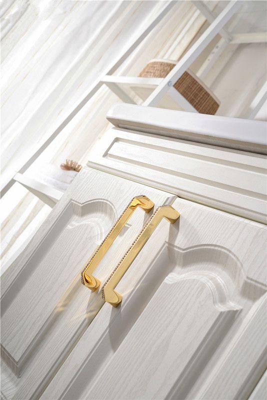 24 K oro o cromo Cristal checo Cajón Perillas del gabinete Armario Manija de la puerta Muebles Perillas Tirar de las manijas 2 Tamaño Nunca descolorarse