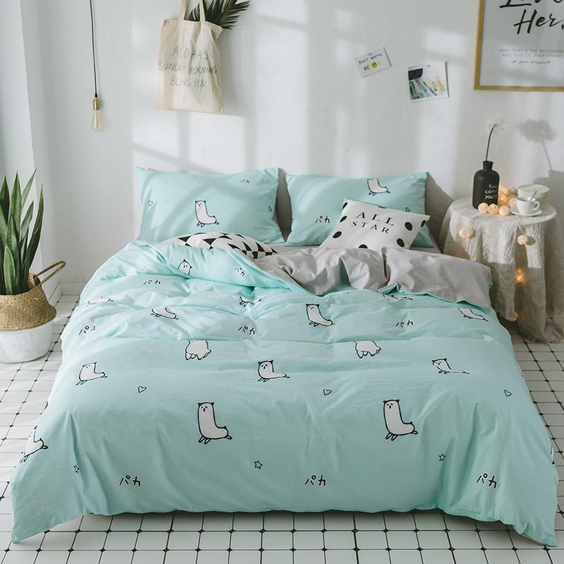 Kids Bedding Set Bed Clothing Teen Bedding Children Bed Linen Cartoon  Bedding Alpaca Print Duvet Cover Set Cute Pillowcases Designer Duvet Covers  Kid ...