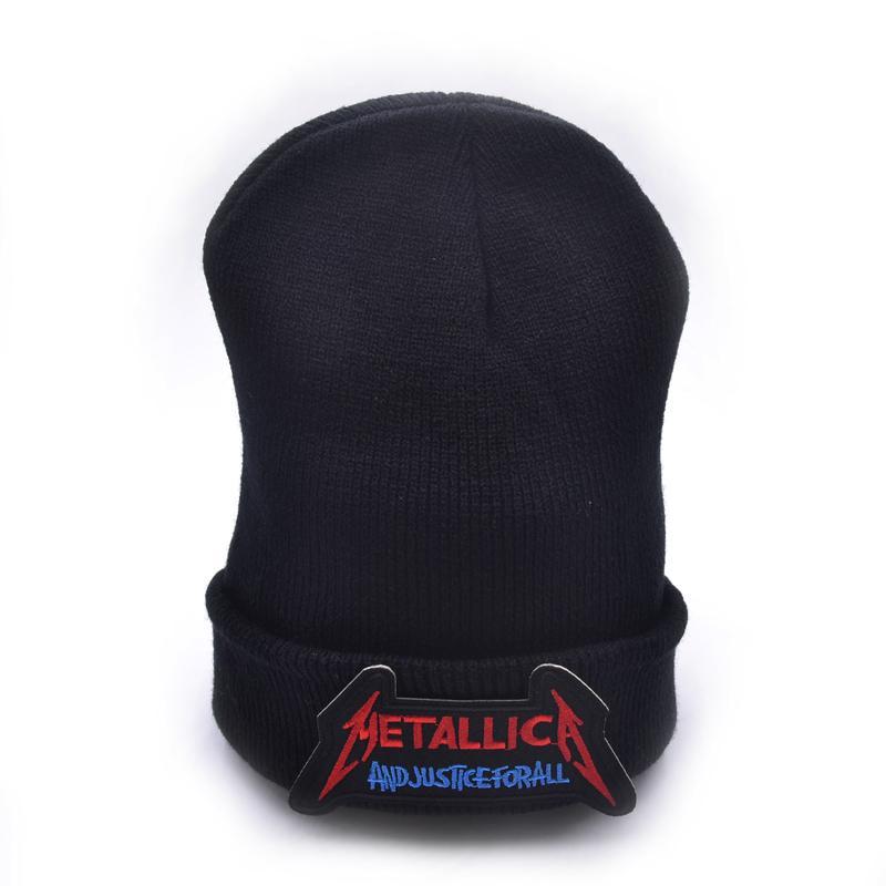 Metallica Logo Wool Beanies Knit Men s Winter Hats For Men Women ... d830732342a6