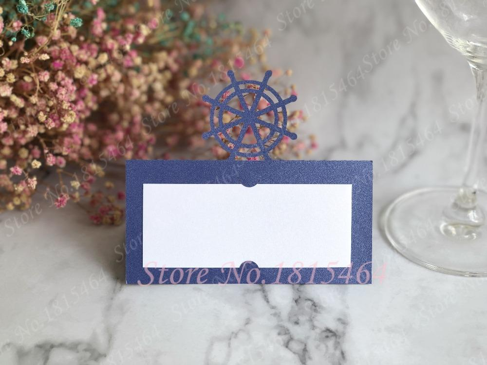 Rudder Place Name Seat Card Banquet Event Guest Invitation Party DIY Table Weeding Decoration Free Printable Greeting Cards Singing Birthday From