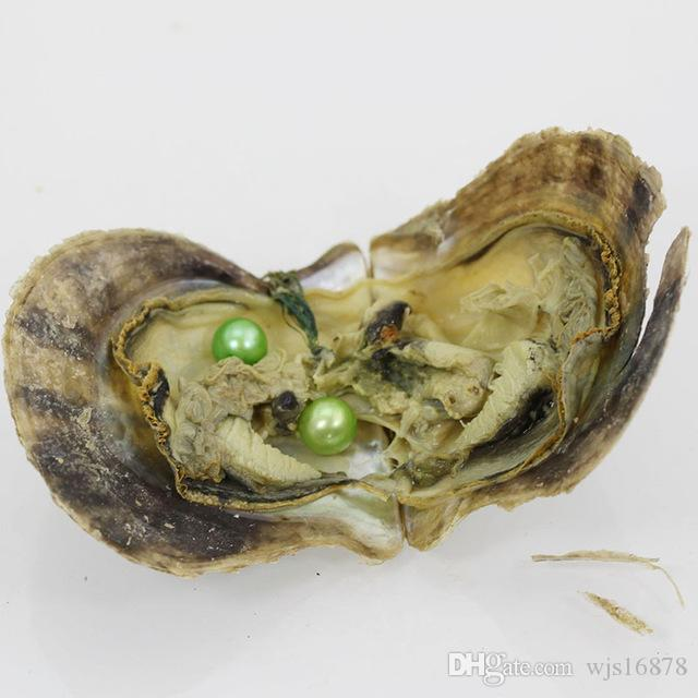 Wholesale DIY Vacuum-packed Akoya Pearl Oysters 6-7mm Pink Round Twin Akoya Pearls in Saltwater Oyster Two Pearls Live Party Gift