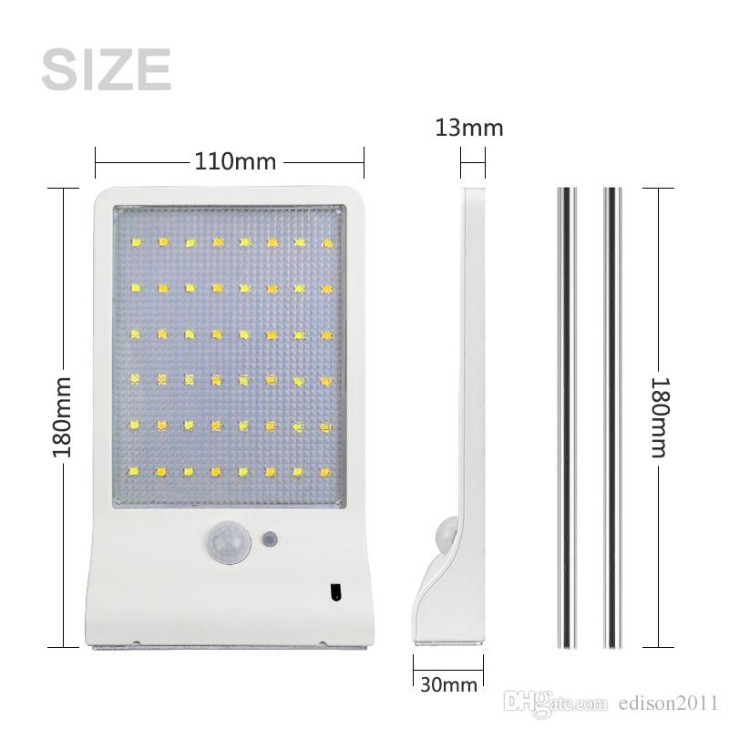 Edison2011 48 LEDs Solar Powered Remote Control Outdoor Lighting with PIR Motion Sensor IP65 Waterproof Garden Street Solar Lamp