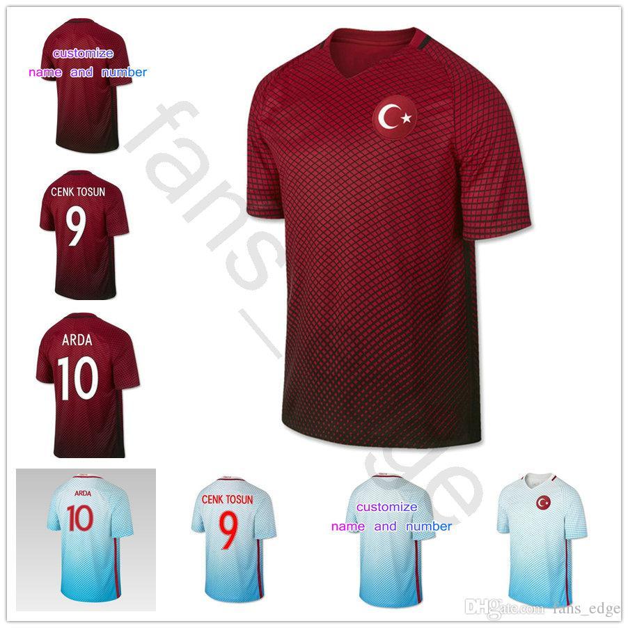 d8e248904c2 2019 Turkey Soccer Jersey 10 ARDA 8 INAN 9 TOSUN 16 TUFAN 15 TOPA 18 ERKIN  19 MALLI CALHANOGLU CAGLAR OZTEKIN Custom Football Shirt From Chen shop