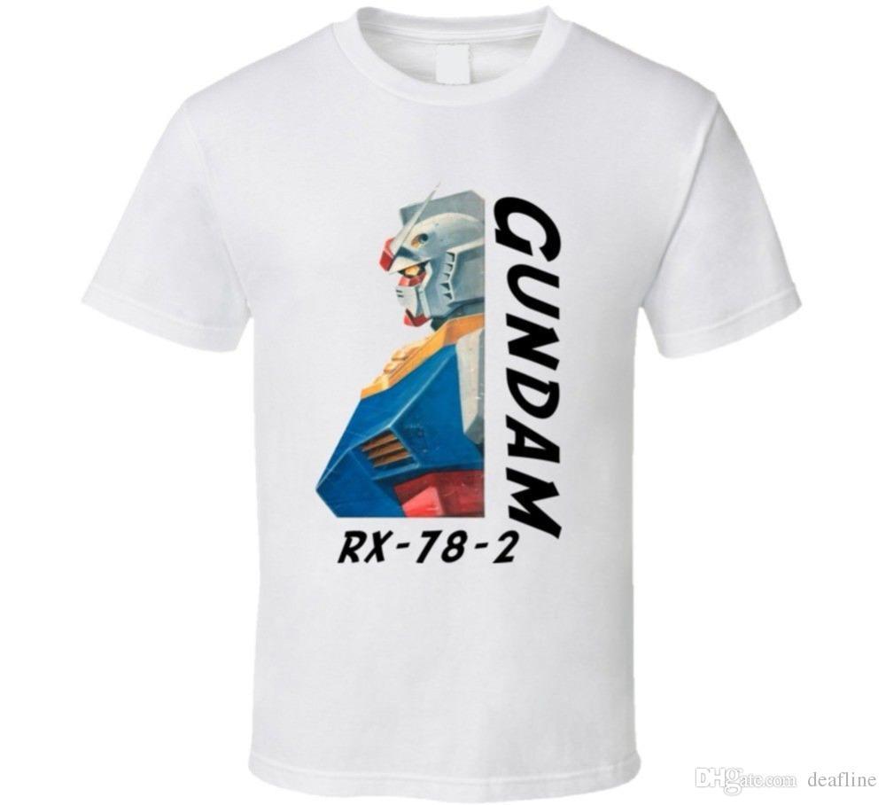 Cool Funny T Shirt High Quality Tees Gundam Rx 78 2 Anime T Shirt