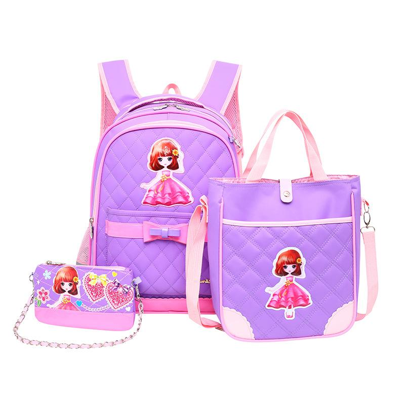 2018 Waterproof Children School Bags Girls Backpack Kids Cartoon Princess School  Backpack Set Mochila Infantil Primary Schoolbag Online with  115.42 Piece  ... ed6987fe00685