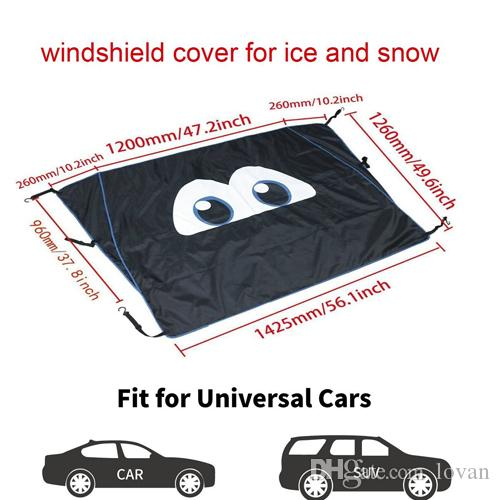 Outdoor Waterproof Windproof Car Sunshade Covers For Jeep Windshield Snow and Ice Shades
