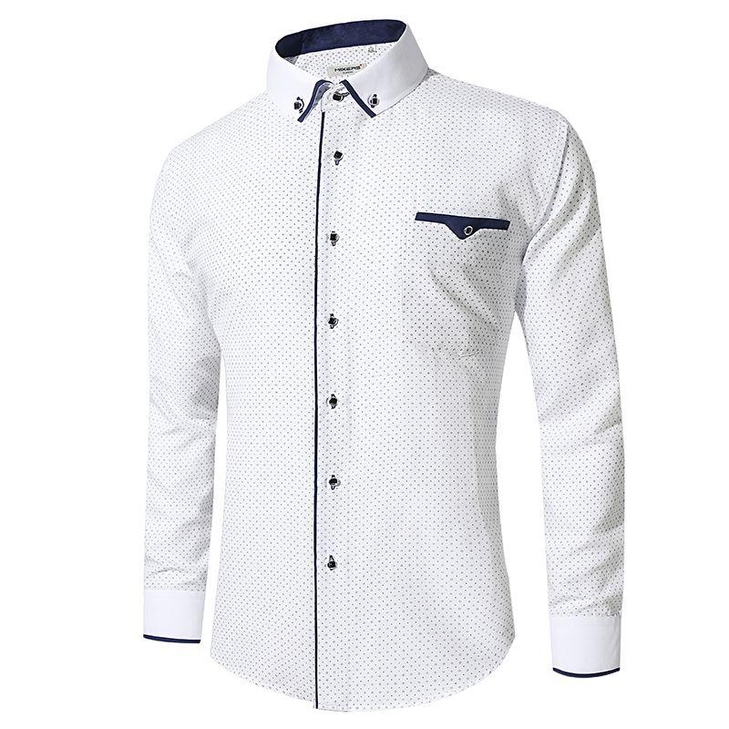 f2873dba1481f3 Acquista Camicia Bianca Uomo Manica Lunga Affari Camicie Casual Uomo Camicie  Camicie Abbigliamento Comodo Camisa Masculina A $18.28 Dal  Itcdepartmentstores ...