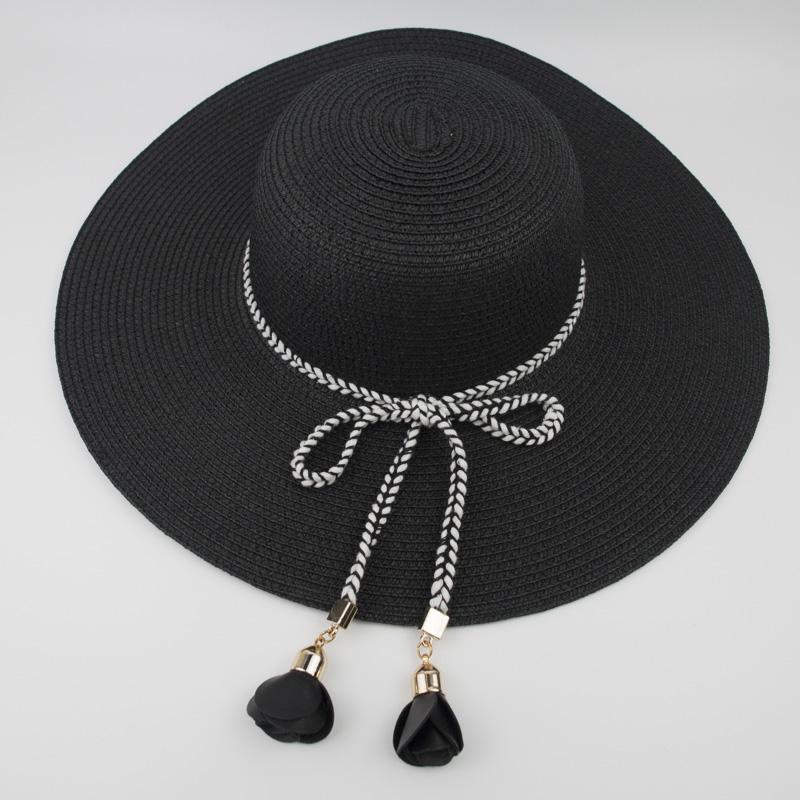 946f4cd0e7158 New Female Ladies Paper Straw Floppy Hat Sun Summer Beach Wide Brim UV  Protection High Quality Caps Party Ladies Foldable Hat EPU MH1842 Stetson  Hats Cowboy ...