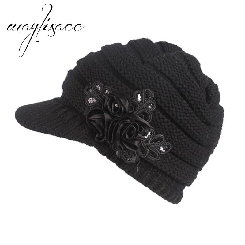55ad9656c5d 2019 Maylisacc Casual Female Winter Warm Knitted Beret Hat Beanies Hat Best  Christmas Gift For Women Outdoor Fashionable From Value222
